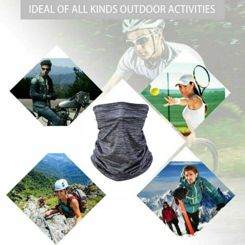 Multi-Use Cooling Face Scarf Sun Shield Soft Neck Gaiter Headband Cycling Unisex