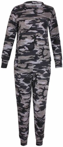 Army Womens jogging Size Top Tuta Set Track Bottom Two da Camouflage Piece Plus wErU60qw