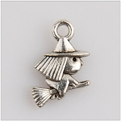 60 Witch Tibetan Silver Charms Pendants Jewelry Making Findings