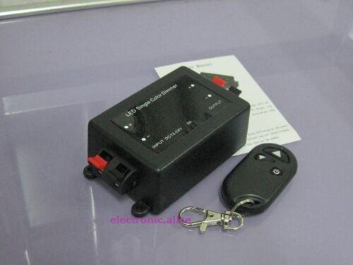 1 canaux DC12-24V DEL Contrôleur Radio sans fil fréquence DEL Seul Canal variateur d/'intensité