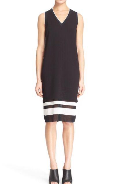 Vince Black V Neck Shift Dress Size 2 Ebay