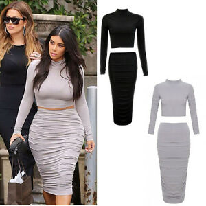 730a9afafdc68 Image is loading WOMENS-LADIES-GIRLS-CELEBRITY-KIM-KARDASHIAN-POLO-NECK-