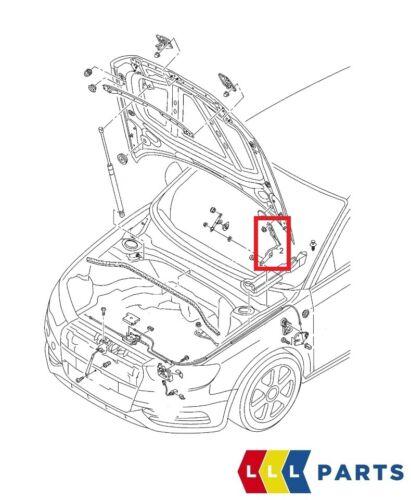 NUOVE Originali AUDI A3//S3 2013-2016 ANTERIORE BONET Coperchio Del Cardine Sinistro N//S 8V0823301G