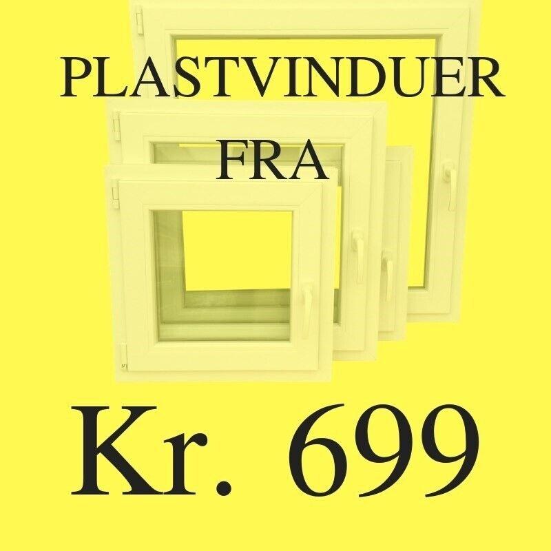 Udhusdør, plast, b: 95 h: 210
