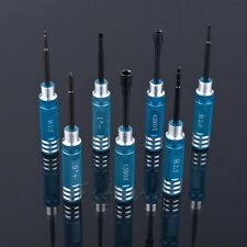 Hex Screw Driver Tools Kit Set 7pcs for Transmitter RC helicopter plane Car Blue