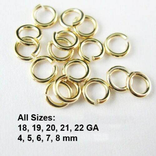 Wholesale Bulk Lots All Sizes Gold Vermeil Open Jump Rings