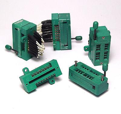 3 x Textool Fassung für 16-Pin ICs / DIL16 Nullkraft-Sockel, DIP ZIF Socket