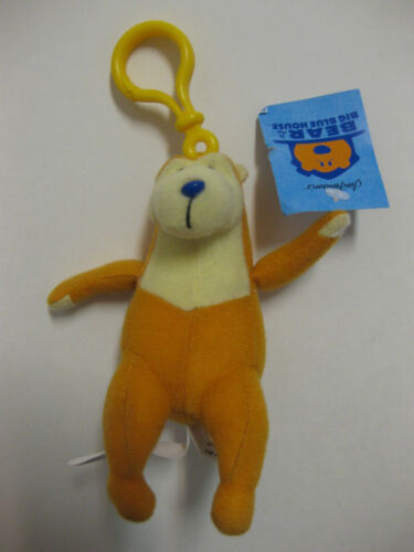 """** R@RE ** Bear in the Big Blue House 5/"""" Plush Key-Chain Clip-On BRAND NEW"""