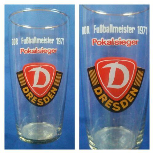 G632 GLAS Becher SG DYNAMO DRESDEN DFV DFB Fussball Sport DDR Oberliga H13,5cm Deutsche Vereine