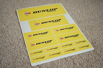 DUNLOP Wheels Tyres Motorcycle Motorbike Alloy Bike Racing Decals Stickers 100mm
