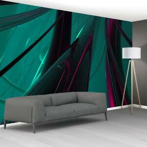 Photo Wallpaper Woven Self Adhesive Wall Mural Art ABSTRACT GREEN