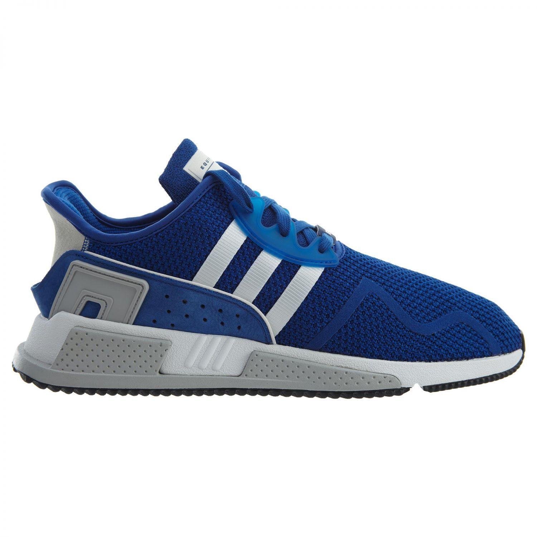 Adidas EQT Cushion Adv Mens CQ2380 Royal Blau Weiß Strick Laufschuhe Größe 12
