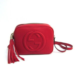 e8b2dec44152f Gucci Soho Disco Bag Interlocking G 308364 Leather Shoulder Bag Red ...
