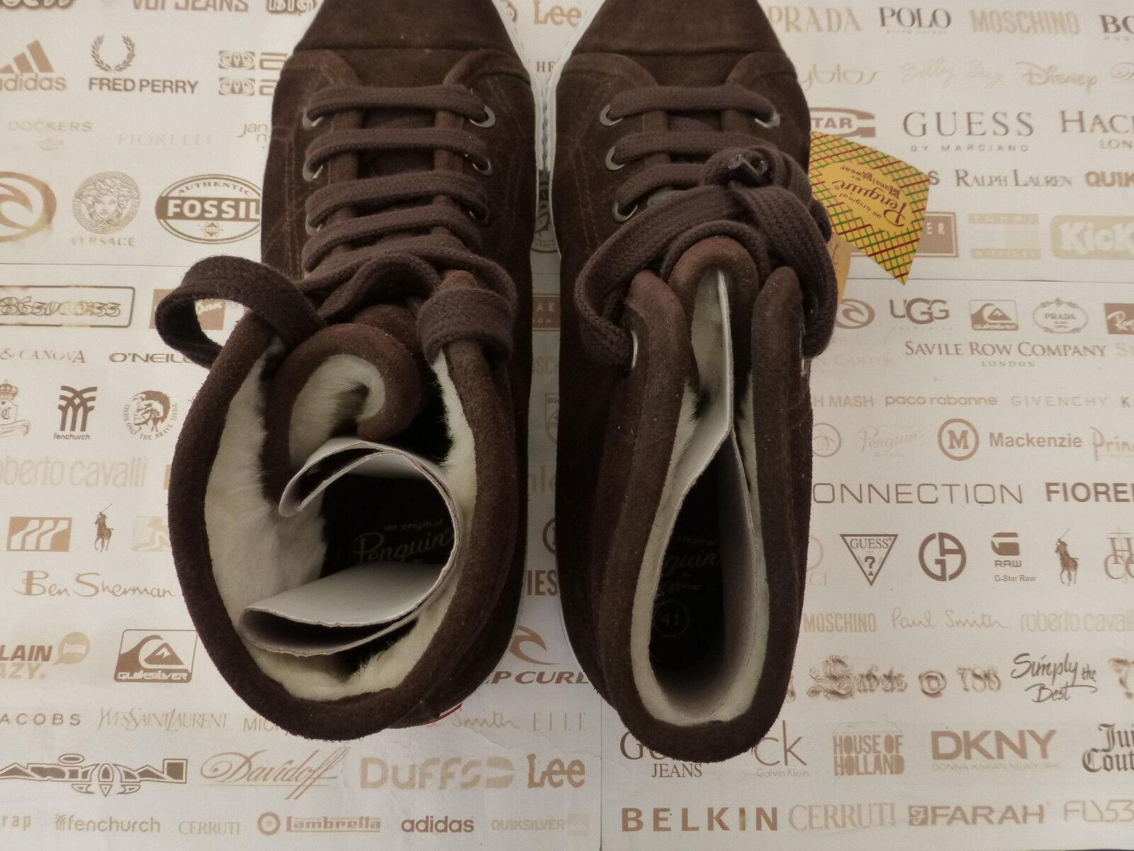 Original PENGUIN UK Suede High Top Trainers UK PENGUIN 7 Chocolate Sneakers Boot BNIB R 90fa1e