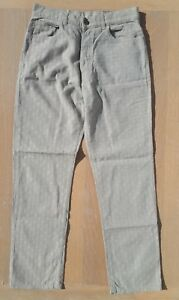 Voi-Jeans-Mens-Size-W32-L31-Beige-Straight-Leg-Textured-Jeans-Holiday-Fashion-32