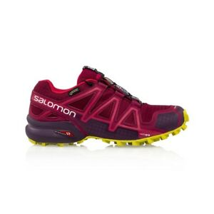 Salomon-Speedcross-4-GTX-Women-039-s-shoe-Beet-Red-Poten