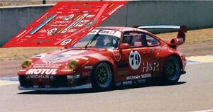 Calcas Porsche 911 GT2 Le Mans 1996 79 1:32 1:43 1:24 1:18 slot decals