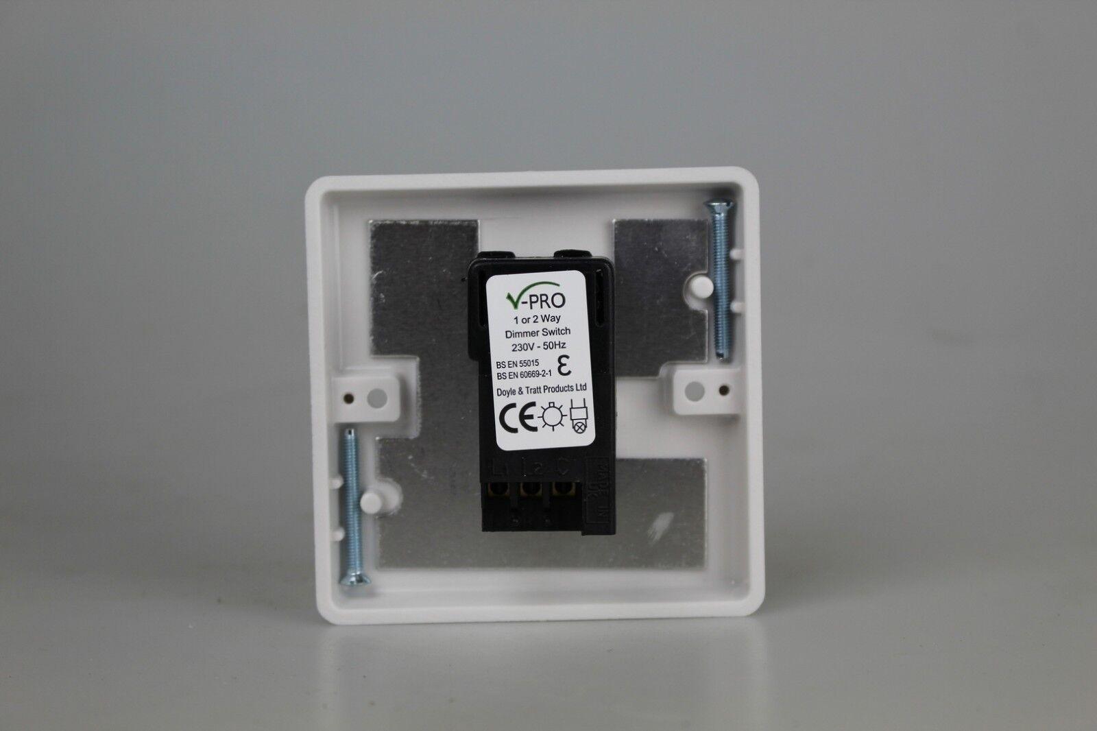Varilight Jqp401w V Pro 1 Gang 2 Way Led Trailing Edge Dimmer Switch Wiring Instructions White Ebay