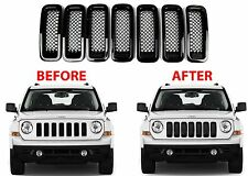 7pc Black Mesh Grill Inserts For 2011-2017 Jeep Patriot New Free Shipping USA