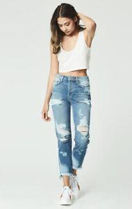 smerigliato 248 a di taglio Distressed 29 Sz jeans Lf Blue Rise Carmar Caviglia High aqUgO