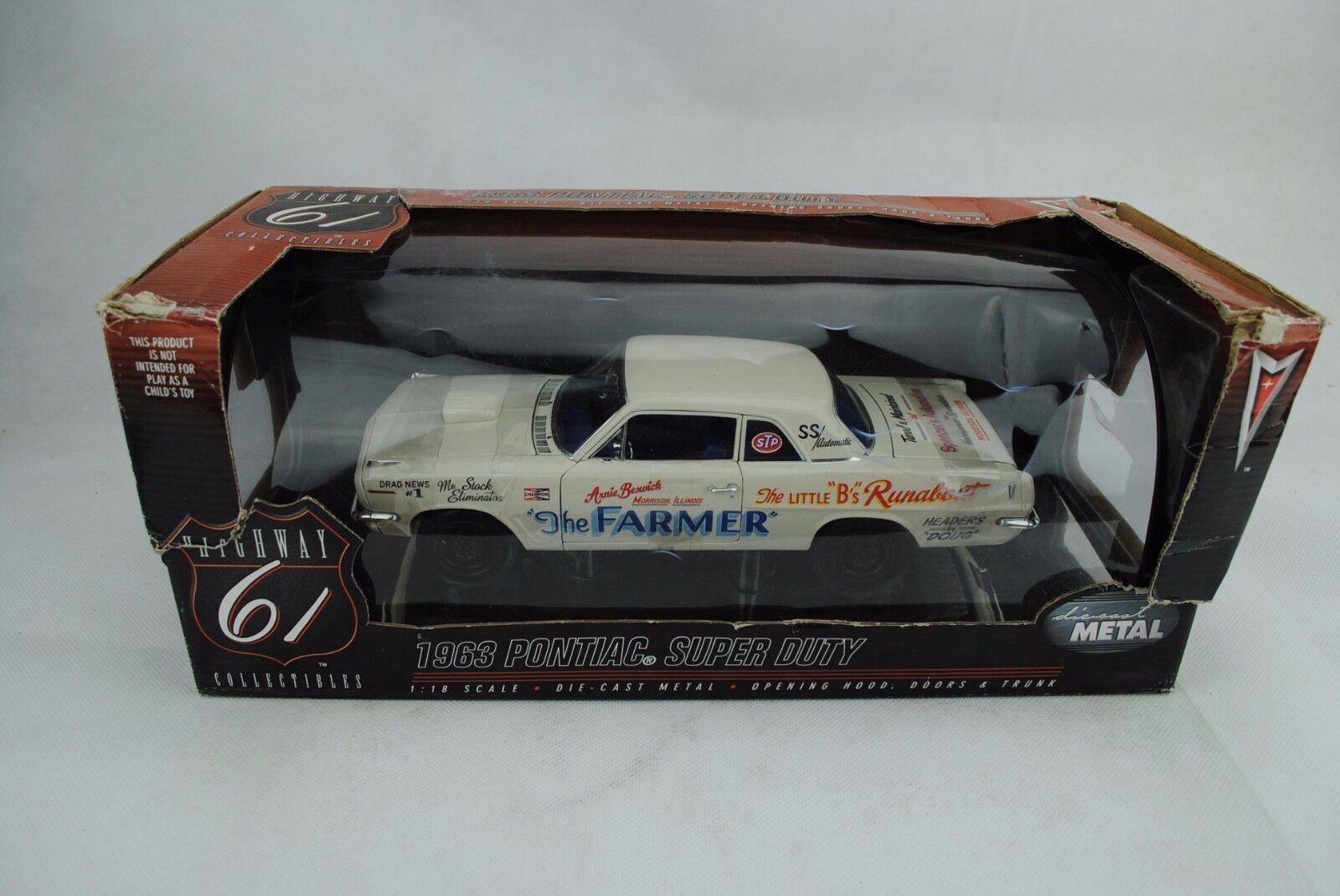 1 18 Highway 61 Pontiac super duty  the Farmer  nuevo en el embalaje original rar