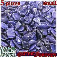 5 Small 10mm Combo Ship Tumbled Gem Stone Crystal Natural - Dumortierite