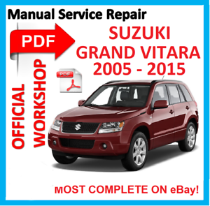 official workshop manual service repair for suzuki grand vitara 2005 rh ebay com 2000 Suzuki Grand Vitara 2002 Suzuki Grand Vitara
