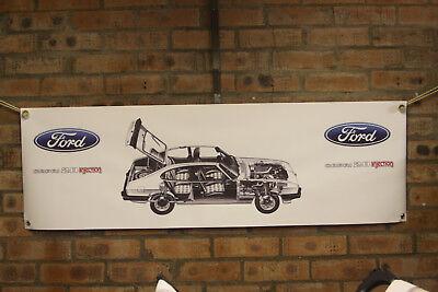 ford capri rs 3100  large pvc banner  garage  work shop man cave classic show