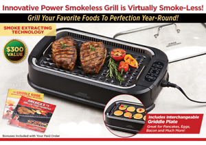 Image Is Loading Smokeless Indoor Electric Grill 1200 Watts Xl