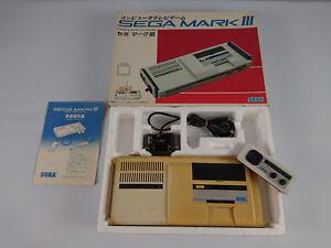 Console-SEGA-MARK-III-3-import-japon-master-system-en-boite-rare