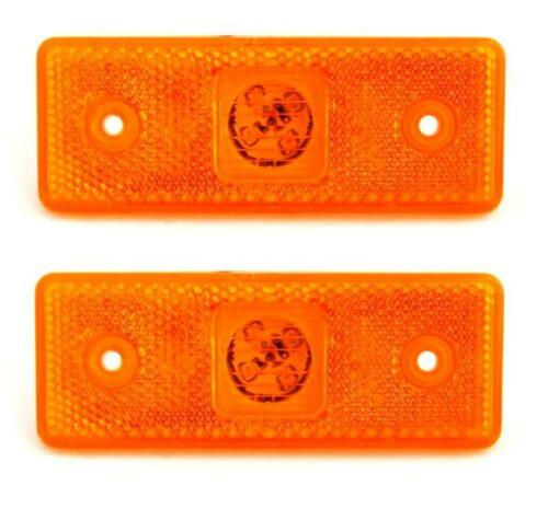 2 Led Orange Seitenmarkierung Hellorange Licht Umriss Panel Lkw Anhänger Bus 12//