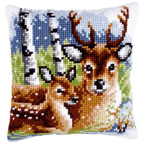 Deer-Family-Vervaco-Chunky-Cross-Stitch-Cushion-Kit-PN0147043