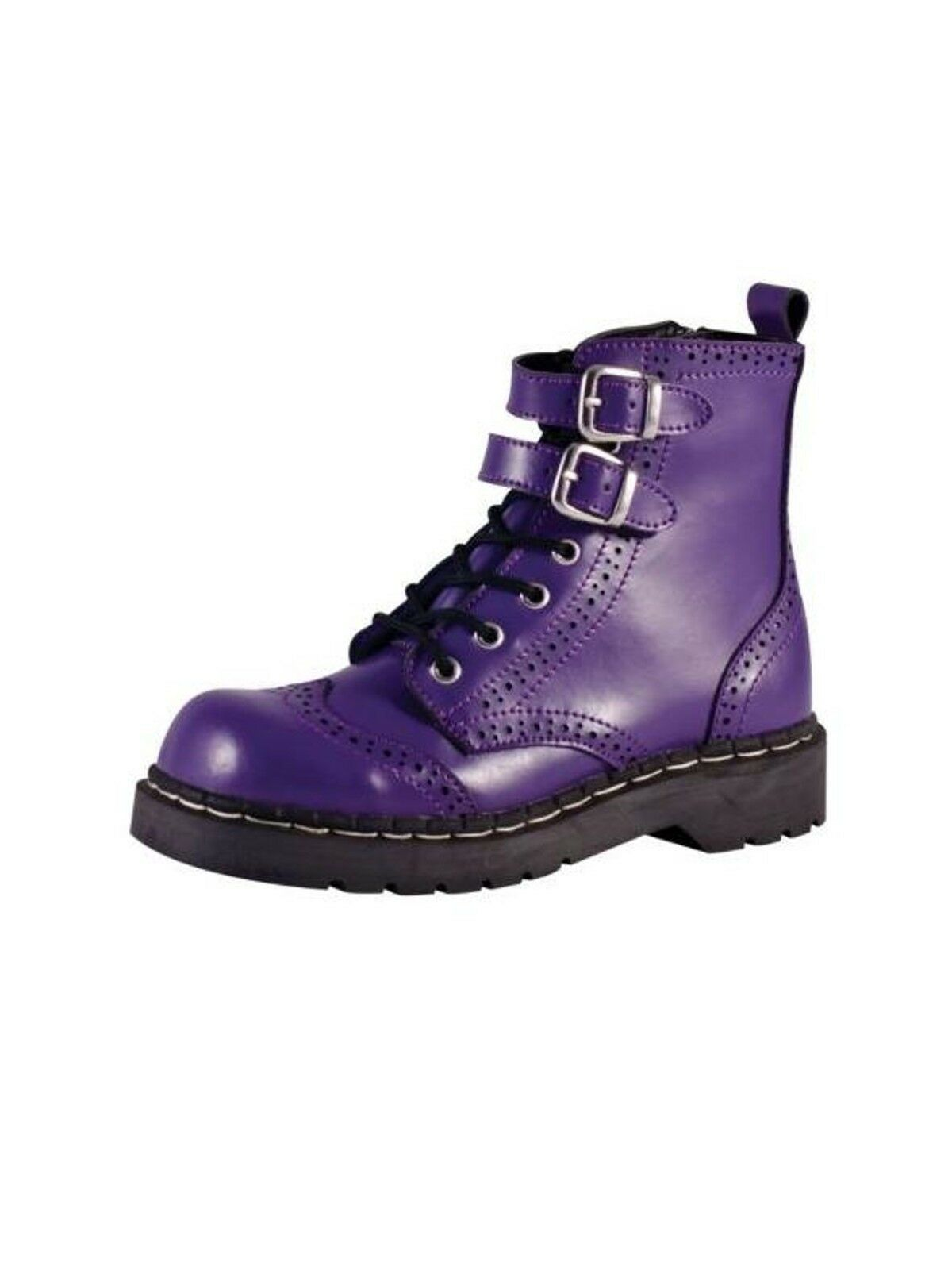 T.U.K./Tuk anarchic botas Boot Budapester hebilla lila violeta t2184