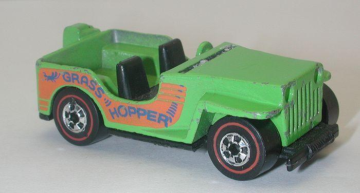 clásico atemporal rojoline Hotwheels verde verde verde 1975 variación no Motor Grass Hopper oc8601  los clientes primero
