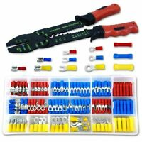 Neiko Solderless Wire Terminal & Connection Kit with Crimping Wire-Stripping Tool - 175 Pieces Storage CaseShow More