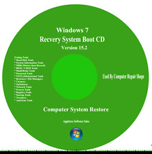**Win XP & 7 Professional Repair Boot Recovery Fix Restore CD Software**