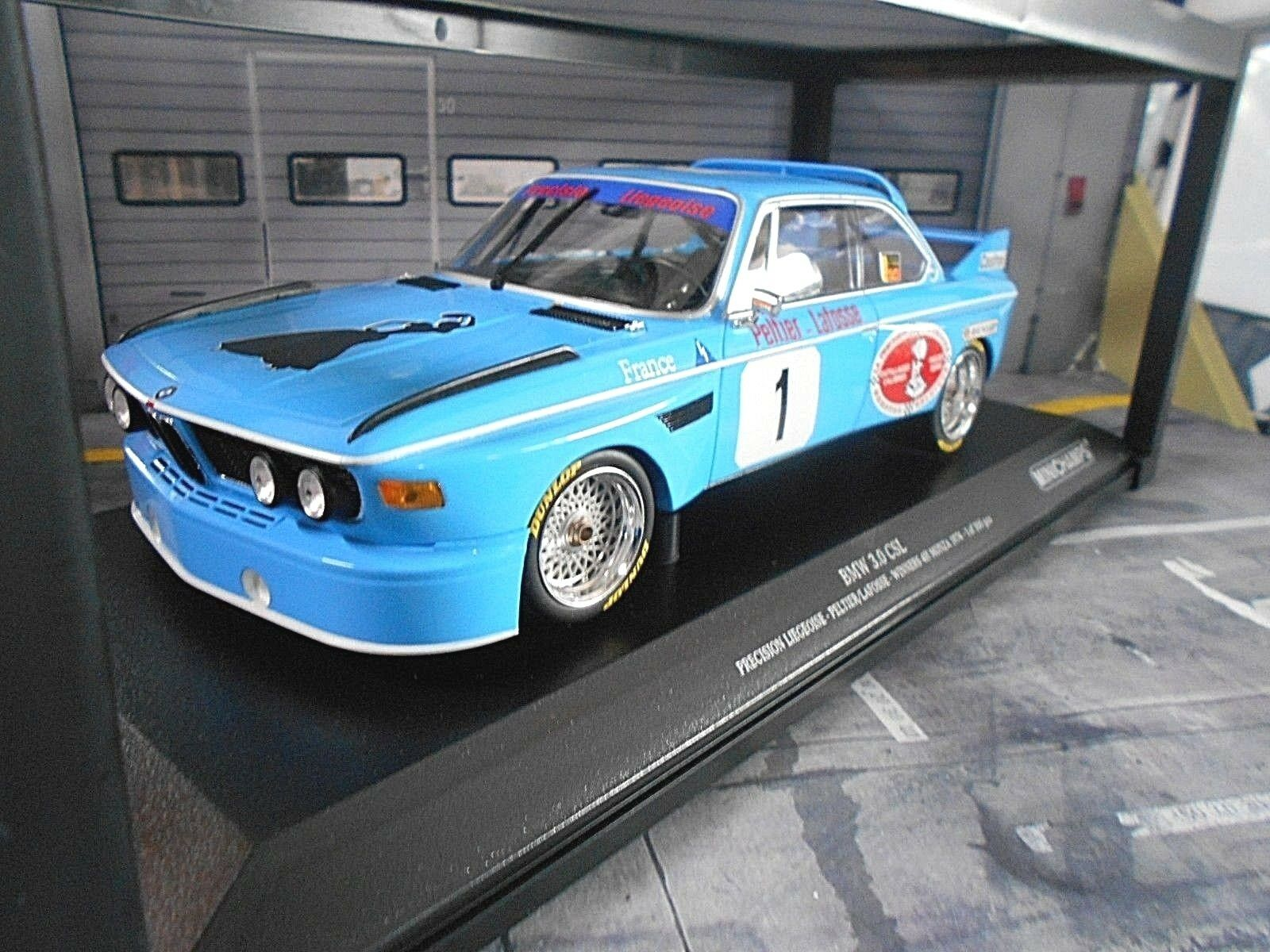 BMW 3.0 CSL Winner Monza 1974 ETCC Peltier Lafosse lie Gitane Minichamps 1 18