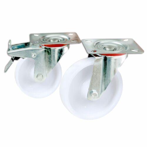Transportrollen PP Lenkrollen Bremse 75 100 125 160 mmauch im Set vorhanden