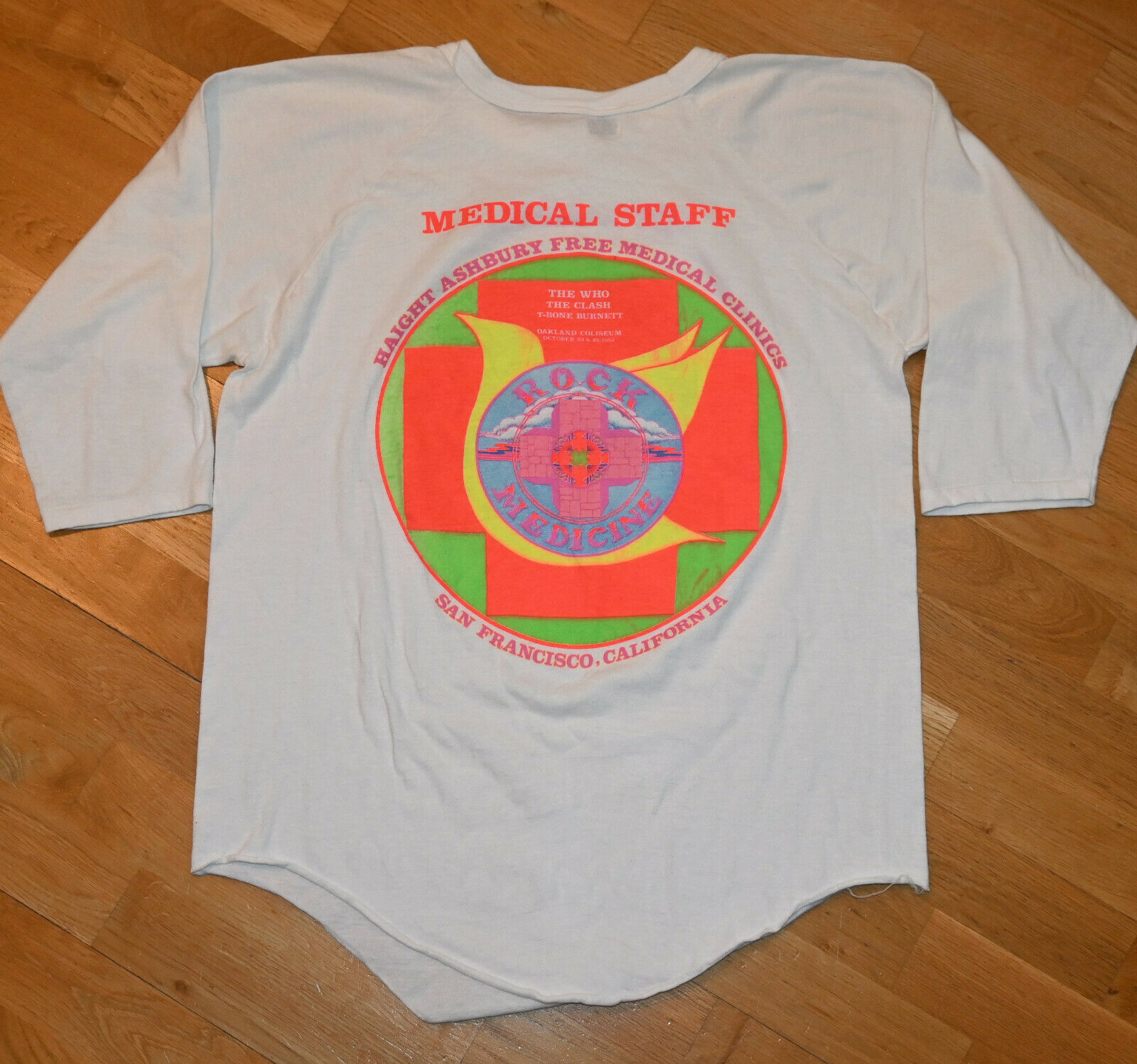 *1982 THE WHO/ THE CLASH * vtg rock concert jerse… - image 3