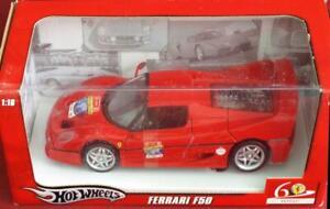 BRAND-NEW-1-18-Ferrari-F50-512-HP-Supercar-Ferrari-60-Relay-Series-by-HotWheels