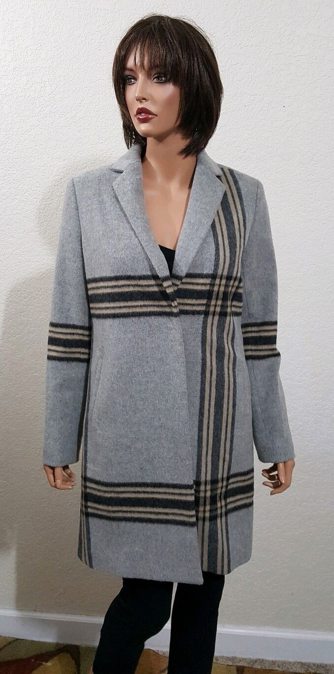 NEW WITH TAGS ECRU VIRGIN WOOL COAT  SMALL  RETAIL 370.00
