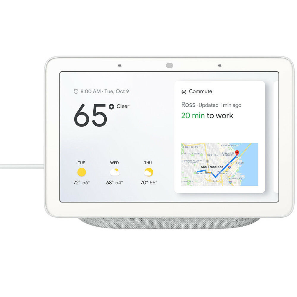 Google 7  Voice-Activated Smart Assistant Home Hub - Chalk