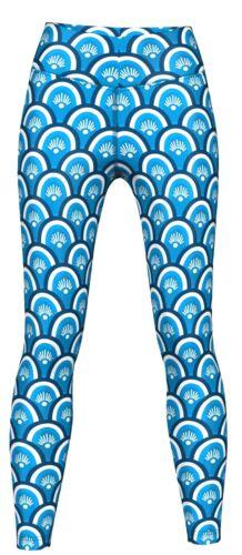 Training /& Fashion Blau Yoga Beauty Leggings sehr dehnbar für Sport
