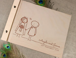 Image Is Loading Wooden Wedding Guest Book Photo Al With