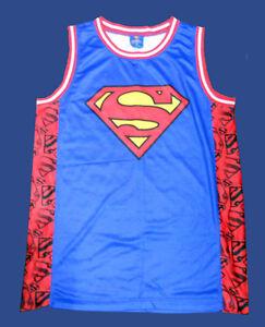New DC Comics Superman Poly Gel Cascade  Mens T-Shirt