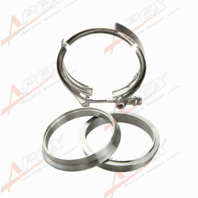 "4"" Self Aligning Male/Female V-Band Vband Clamp CNC Mild Steel Flange Kit"