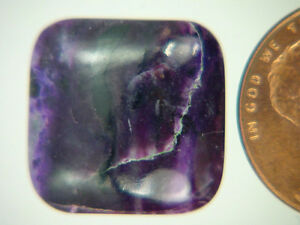 BUTW-Genuine-African-Sugilite-11-ct-Rectangle-Cabochon-Lapidary-Gemstone-9976K