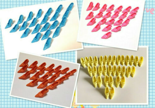 """Mix 100 Pair Shoes For 11.5/"""" Dolls Toys Barby DollsChrismas Gifts B50"""