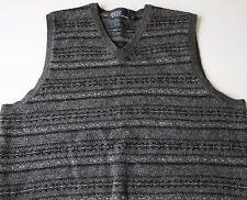 LUXURIOUS Polo Ralph Lauren Wool Alpaca Camel Blend Fair Isle Sweater Vest Sz L