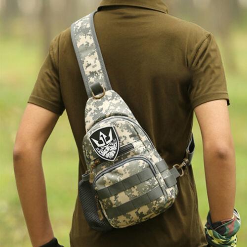 Mens Tactical Military Chest Bag Hiking Messenger Cross Body Shoulder Bag Pack